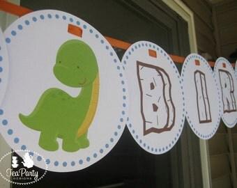 Dinosaur Custom Birthday Party Banner - My Little Dinosaur Collection