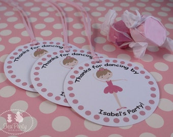 Ballet Party Custom Favor Tags - My Little Ballerina Collection