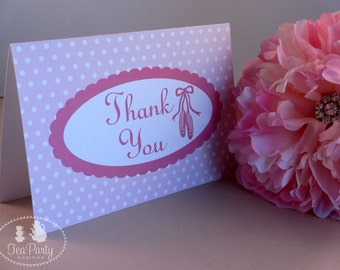 Ballet Party Thank You Notes - My Little Ballerina Collection
