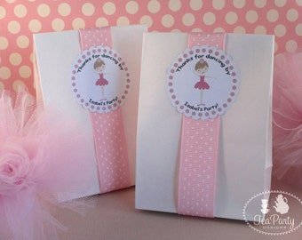 Ballerina Party Custom Favor Stickers - My Little Ballerina Collection