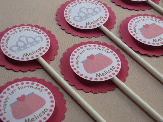 Princess Party Custom Cupcake Toppers - My Little Princess Collection