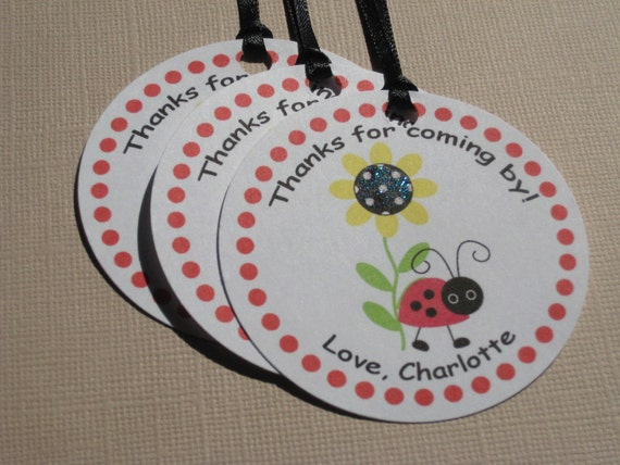 Ladybug Party Custom Favor Tags - My Little Buggy Collection