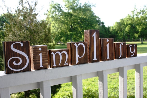 CUSTOM PERSONALIZED BLOCKS - Letters Initials Name - Distressed Sign - Home Decor Shelf Monogram - Rustic Wedding Shower - Wood House Gift