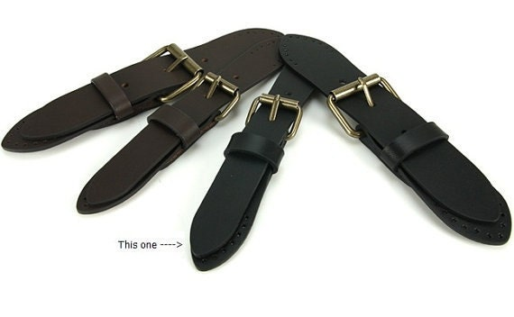"6.5"" Black Leather Closure with Buckle"