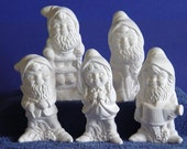 Working Set of Gnomes Ready to Paint Ceramics Poured by JC