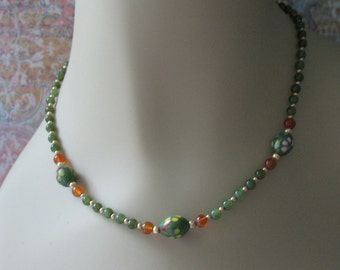 Darling Green Jade Necklace Choker