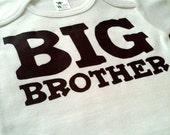 Baby Clothes Onesie Bodysuit Romper Jumper Shower Birthday Party Favor  - 6-12M - Big Brother - SALE