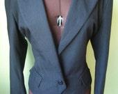 SPORTSCRAFT size AUS 14 US 10 VINTAGE short black TUXEDO style ladies jacket