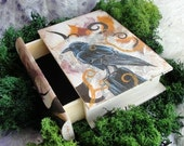 The Ravens Secret - wooden keepsake book box