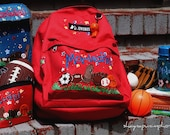 Hand Painted Sports Personalized Backpack