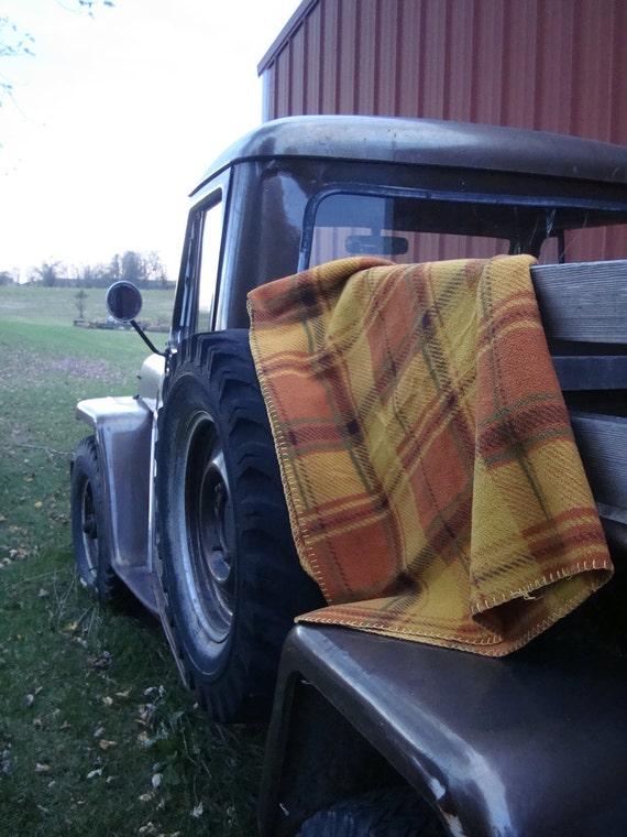 RESERVED Fleece Fall Blanket Golds Tan Brown Rust Green
