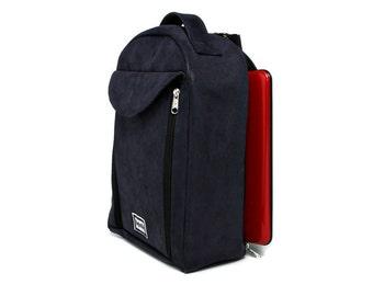Sling Messenger Bag, One Strap Backpack,Padded Netbook iPad Bag - Kimmie,Blue,Vegan,Faux Leather