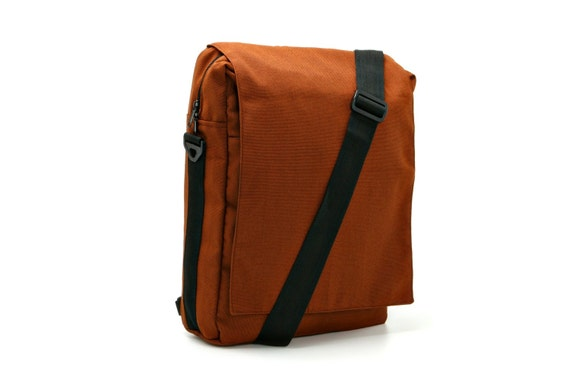 Niko - Canvas Padded Laptop Bag in Rust - Messenger and Backpack