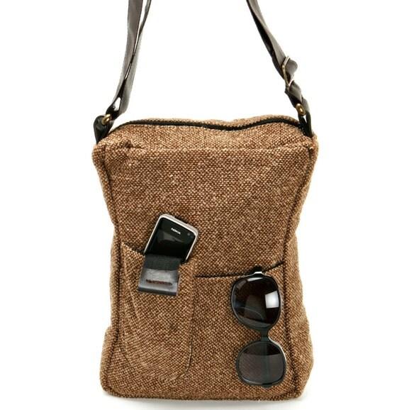 Messenger Bag,Shoulder Bag,Synthetic Wool,Vegan- Maude in Ginger