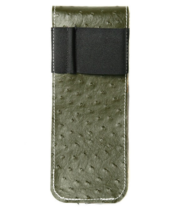 A4, Hardcover Notebook Strap, Organizer,  iPhone Carrier,  Orion's Ostrich Faux Leather