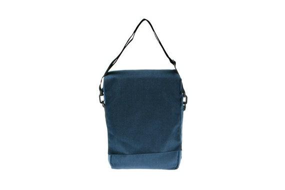 Last One- Messenger Bag,Padded laptop Bag , Backpack ,Blue Cordora- Niko in blue