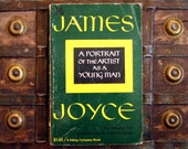 A Portrait of the Artist as a Young Man - James Joyce - 1960s paperback semi autobiographical book