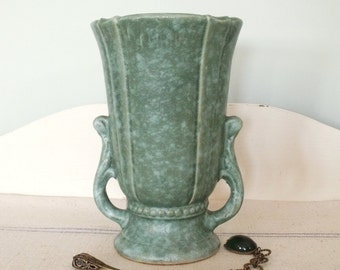 Vintage USA Pottery Mat Green Vase    Sale was 38.00