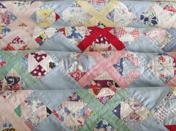 Vintage Feed Sack Baby Quilt