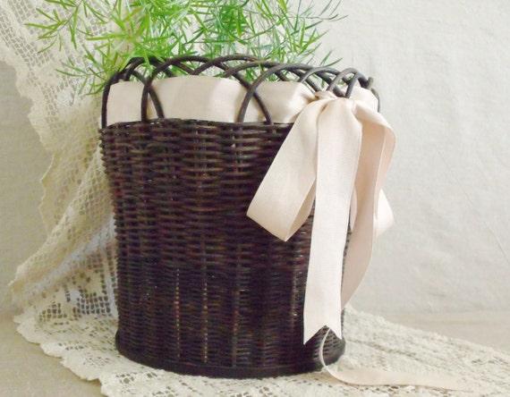 Victorian Wicker Flower Basket