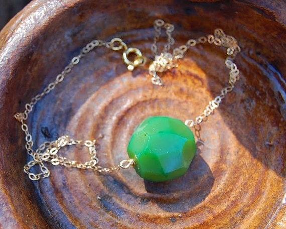 Remedy Green Single Stone Necklace