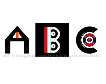 ABC Prints for baby's room decor and visual aid for baby.  Great gift idea.