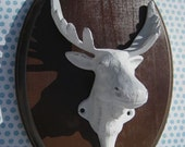 Moose Wall Hook/Taxidermy/Cast Iron