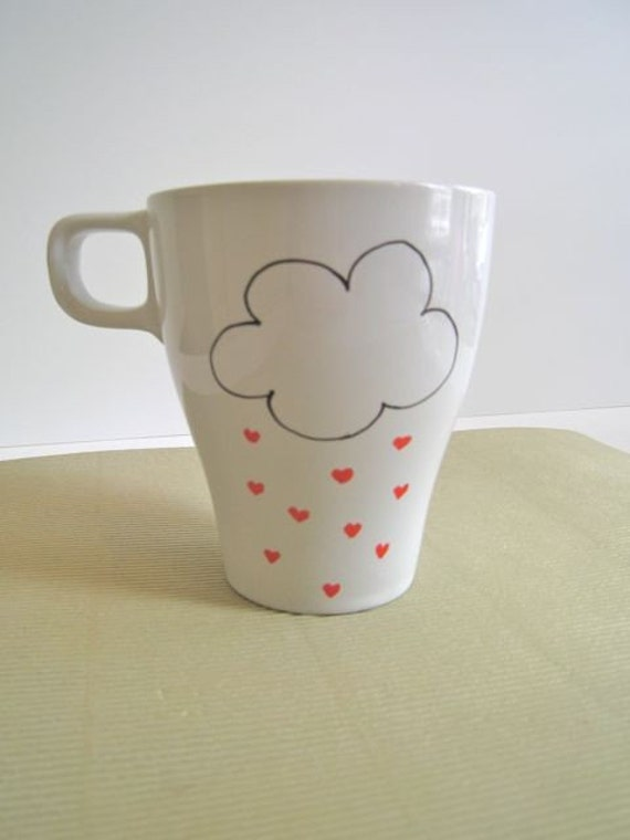 I Heart Rain coffee mug