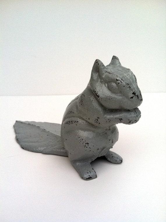 Squirrely paper weight door stop - Cast iron squirrel door stop ...
