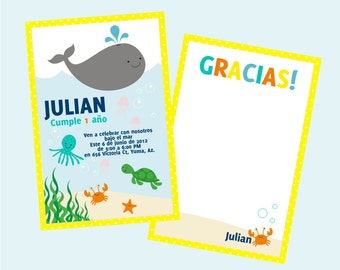 Under the sea Printable Party