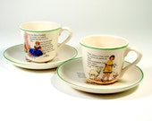 Nursery Rhyme Cups & Saucers - Set of Two