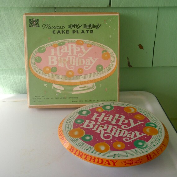 Cake Plate That Plays Happy Birthday Song