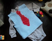 Sweater Vest - Little Man Sweater Vest - Baby Boy - Toddler Boy MADE TO ORDER