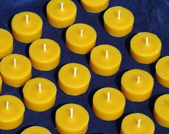 30 Beeswax Tealight Refills