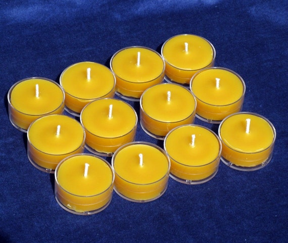 Beeswax Tealights - Package of 12