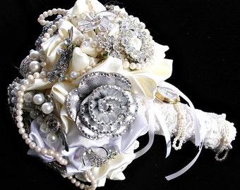wedding Broooch bouquet ,alternative Bridal brooch  bouquet,  bridesmaids bouquetsjewelry