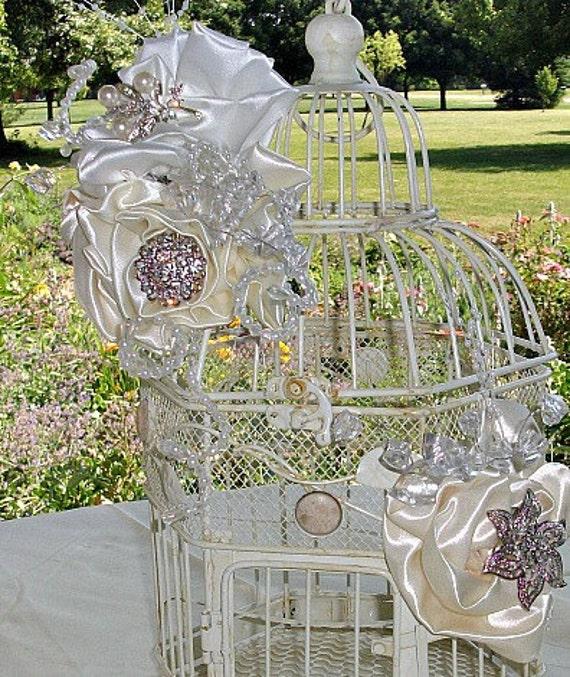 wedding bird cage  card holder, reception card holder to match brooch bouquets ,  brooch wedding bouquet, ,crystal, rhinestones