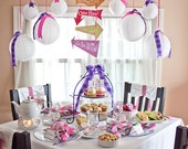 "MAD HATTER Collection - ""Alice in Wonderland"" Inspired Printable DIY Party Decorations"