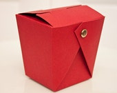 RED TAKE-OUT Favor Box - 25 Pack