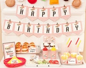 BURGER-n-FRIES Birthday Collection - Printable Barbecue Décor
