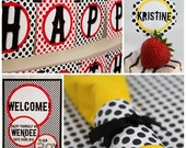 MOD DOTS Collection - Printable Party Décor