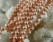 COPPER 2.4mm BALL CHAIN-18 inch Solid Copper Available in all lengths - Check out my prices