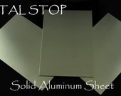 SHEET METAL-Aluminum- 2 Sheets - Large 4 by 6 inch Piece 22g For all your Metal Jewelry and Blanks Best Metal Prices on ETSY