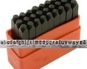 1/8 inch 3.0mm LOWERCASE Metal Alphabet Stamp set Brand New Font Size - Get them While They Last