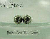 DESIGN STAMP - Left and Right BABY Feet - Metal Jewelry Stamping Supplies