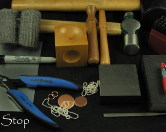 Awesome Starter METAL JEWELRY STAMPING Kit The Tools You Need To get Started Includes Instructions