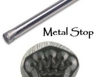 Metal Design Stamp-CROWN- Metal Jewelry Stamp