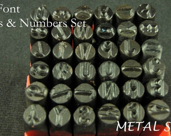 UPPERCASE metal 1/4 inch LETTER ALPHABET Arial Font upper case Stamping Set