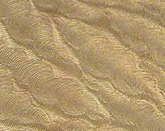 "Textured Brass Sheet 2.5"" x 3"" - Great for Jewelry or Texturing other metal"