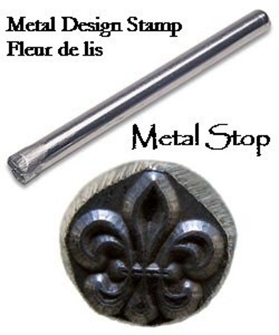 FLEUR DE LIS Metal Design Stamp - Check out my great stamping supplies